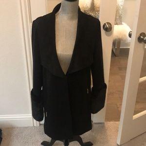 NWT Ivanka Trump Black Coat Size M
